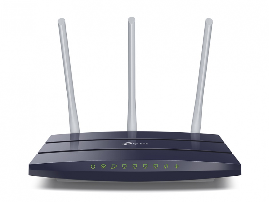 Imagine Router Gigabit Wireless N 450Mbps 3 antene, TP-LINK TL-WR1043N