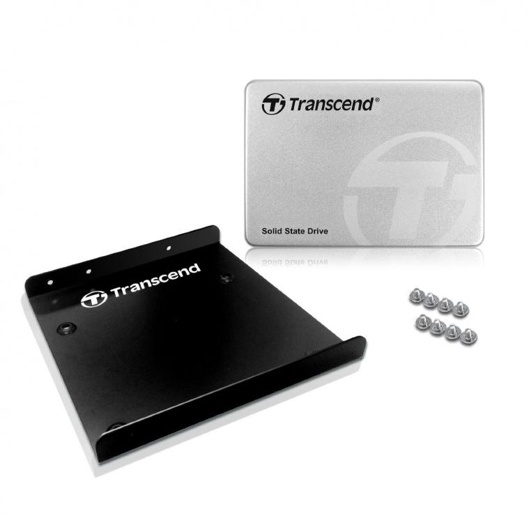 """Imagine SSD TRANSCEND SSD370S 256Gb SATA III + bracket 3.5"""" Aluminium"""