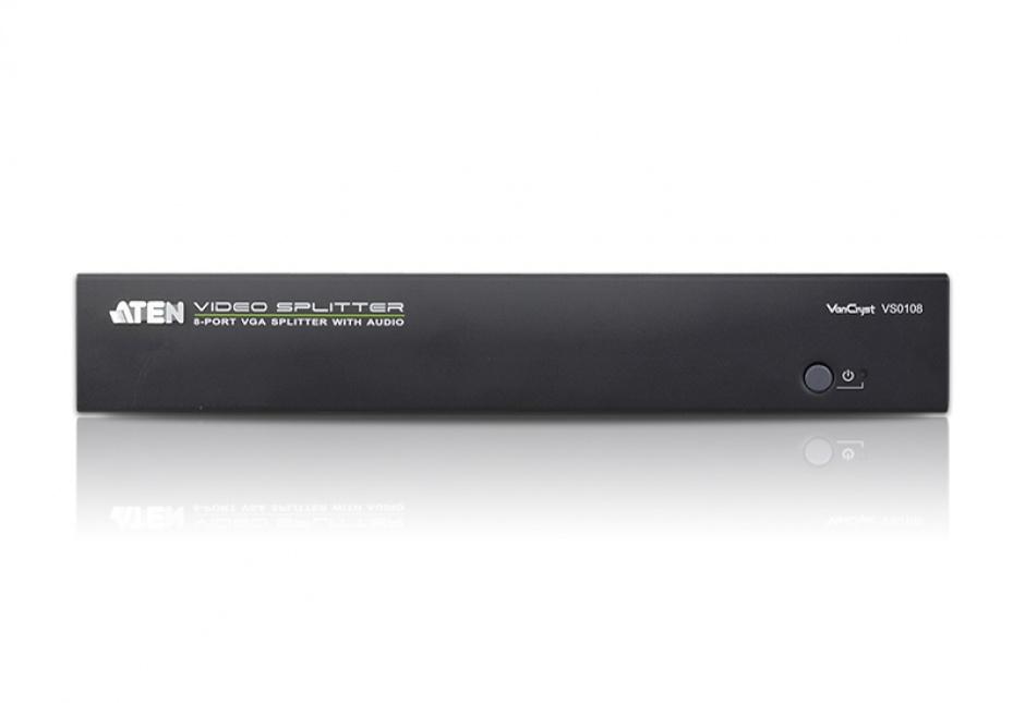 Imagine Multiplicator VGA/Audio 8 porturi 450MHz, ATEN VS0108
