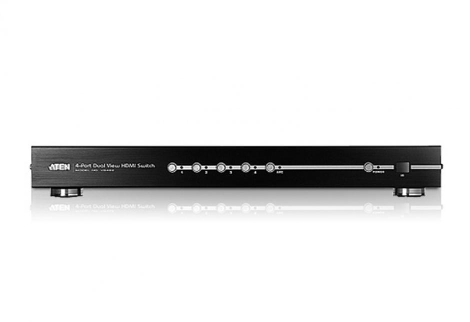 Imagine Switch HDMI True 4K cu 4 porturi Dual View, ATEN VS482