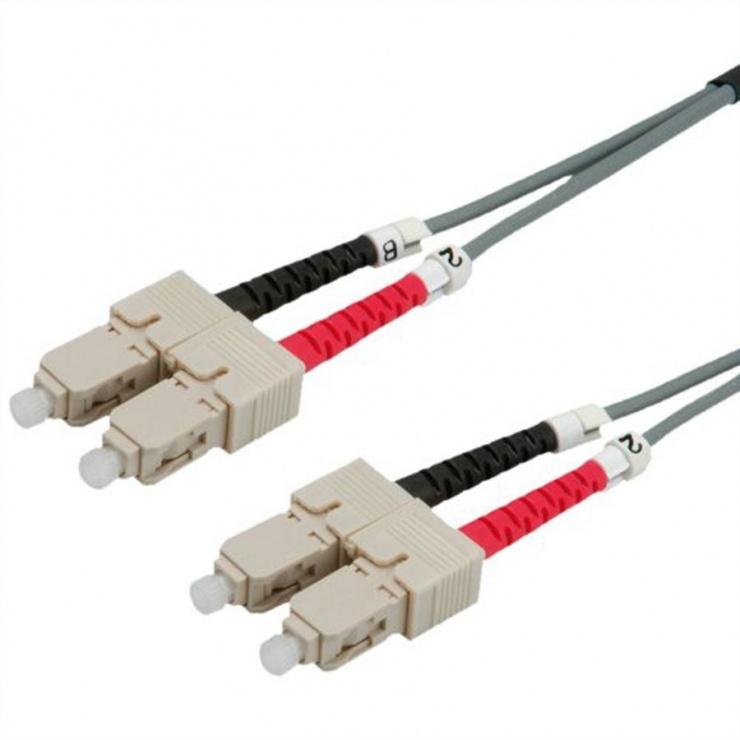Imagine Cablu fibra optica SC-SC duplex multimode 2m, Value 21.99.9902