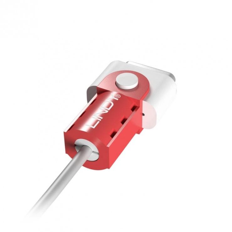 Imagine Protectie pentru cablu de incarcare magnetic MagSafe 2 Rosu, Lindy L31401