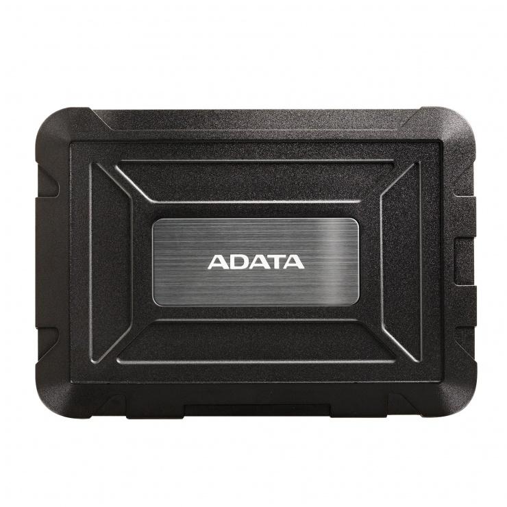 """Imagine Rack extern ED600 2.5"""" HDD SATA la USB 3.1, A-DATA AED600U31-CBK"""