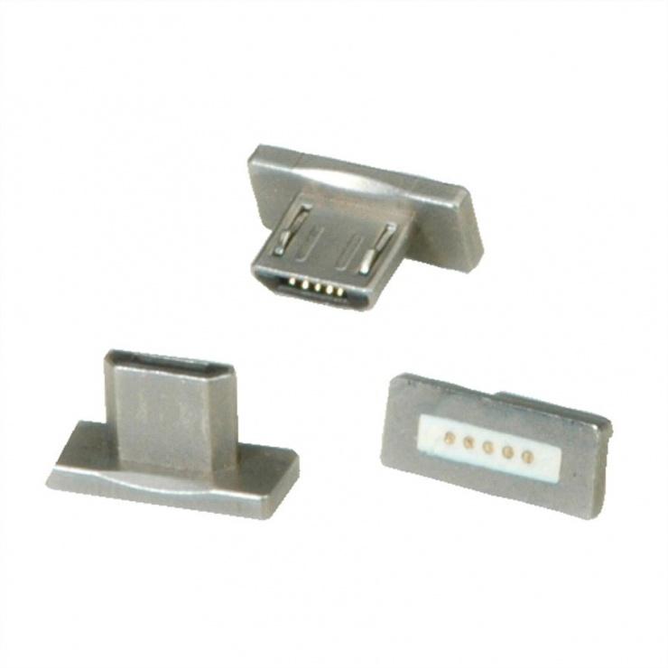 Imagine Set 3 buc conector magnetic micro USB-B pentru 11.02.8312, Roline 11.02.8313