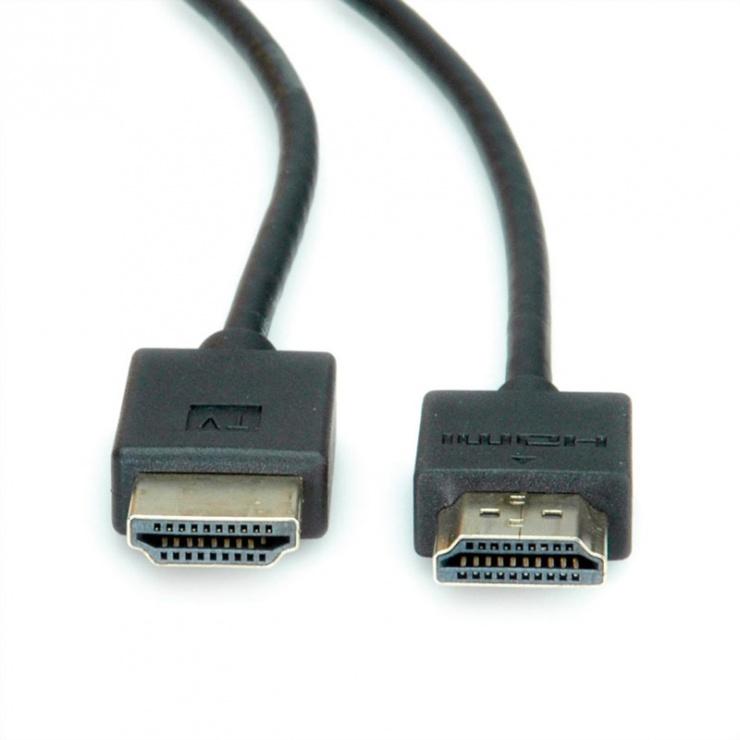 Imagine Cablu HDMI Ultra HD (UHD-1) activ T-T Negru 1m, Roline 11.04.5910-2
