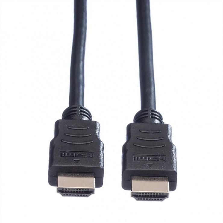 Imagine Cablu HDMI cu Ethernet T-T v1.4 negru 1.5m, Value 11.99.5531-1