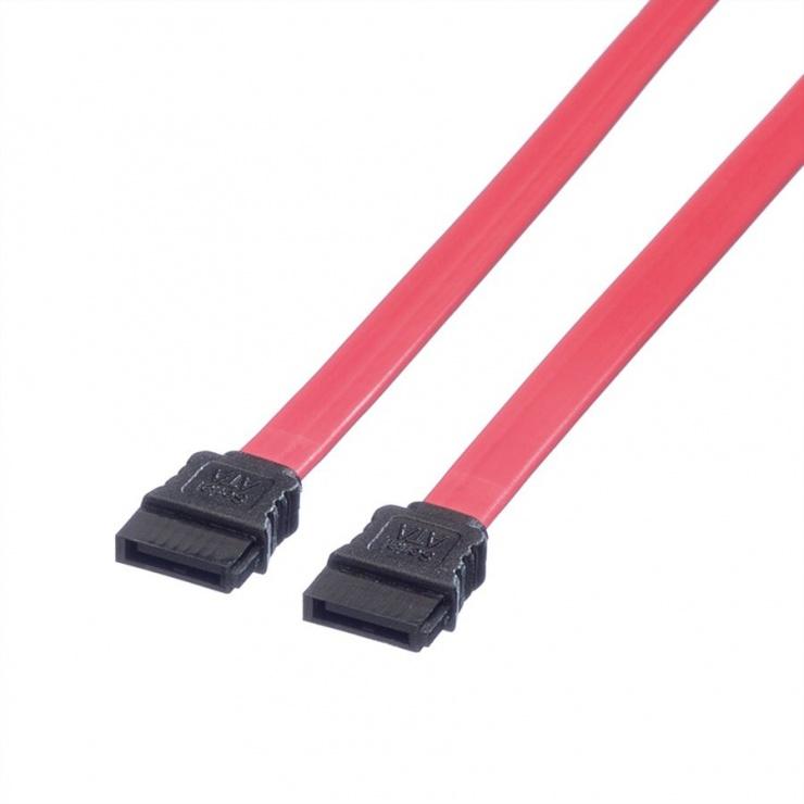 Imagine Cablu SATA II 3 Gb/s drept/drept rosu 0.5m, Roline 11.03.1555