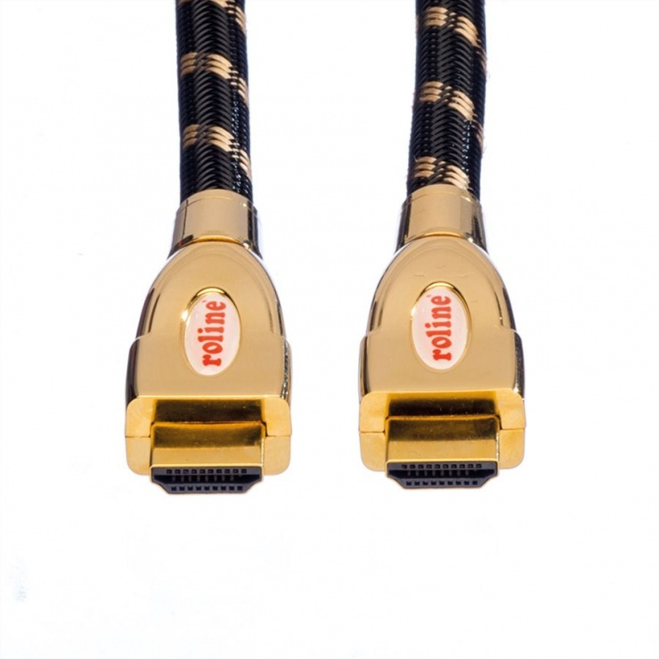Imagine Cablu HDMI 4K GOLD Ultra HD Cable + Ethernet 2m, Roline 11.04.5691-1