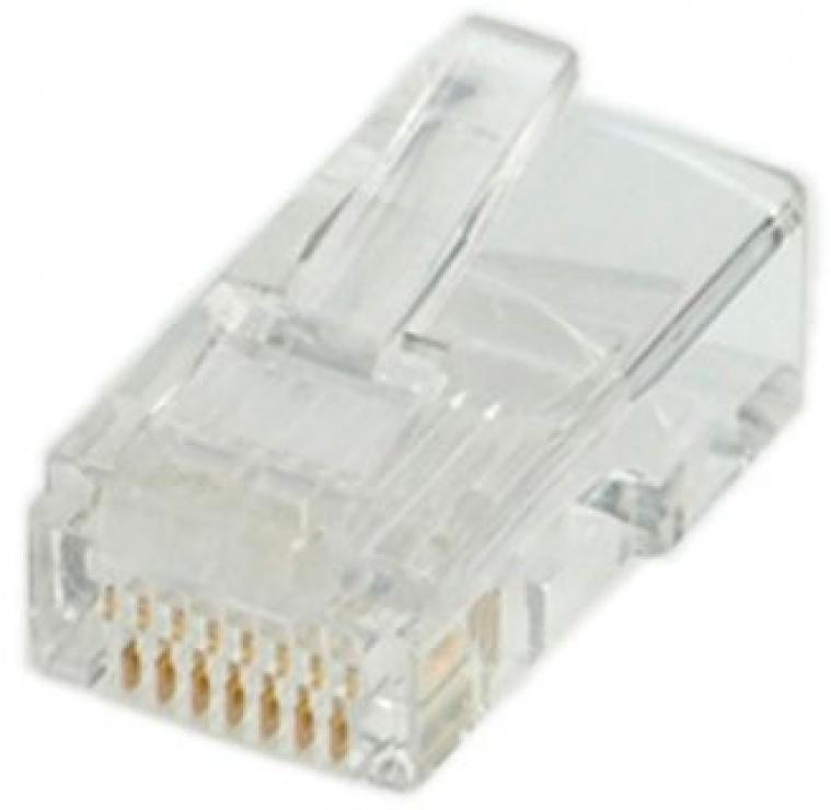 Imagine Set 10 buc conectori RJ45 UTP cat.5, Roline 12.01.1087