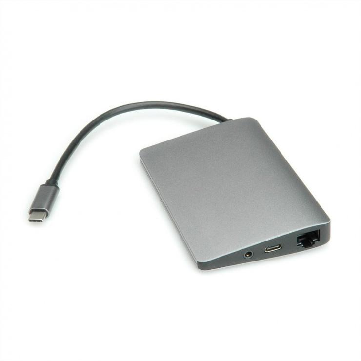 Imagine Docking station USB-C la 4K HDMI, Mini Displayport, 2 x USB 3.0, 1 x SD/MicroSD card reader-1