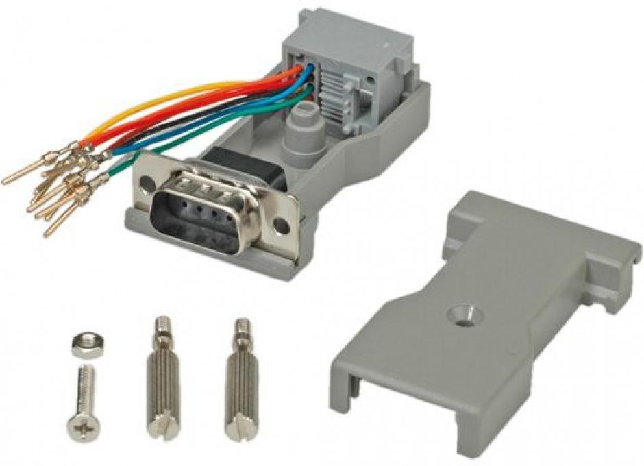 Imagine Adaptor serial DB9 la RJ45, Roline 12.03.7525-1