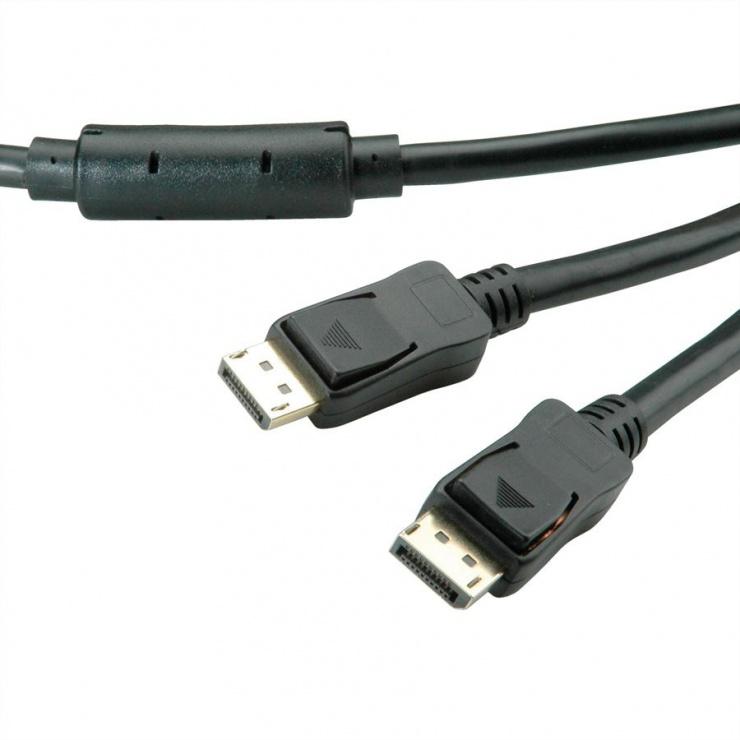 Imagine Cablu Displayport activ v1.2 T-T 20m Negru, Value 14.99.3496-2