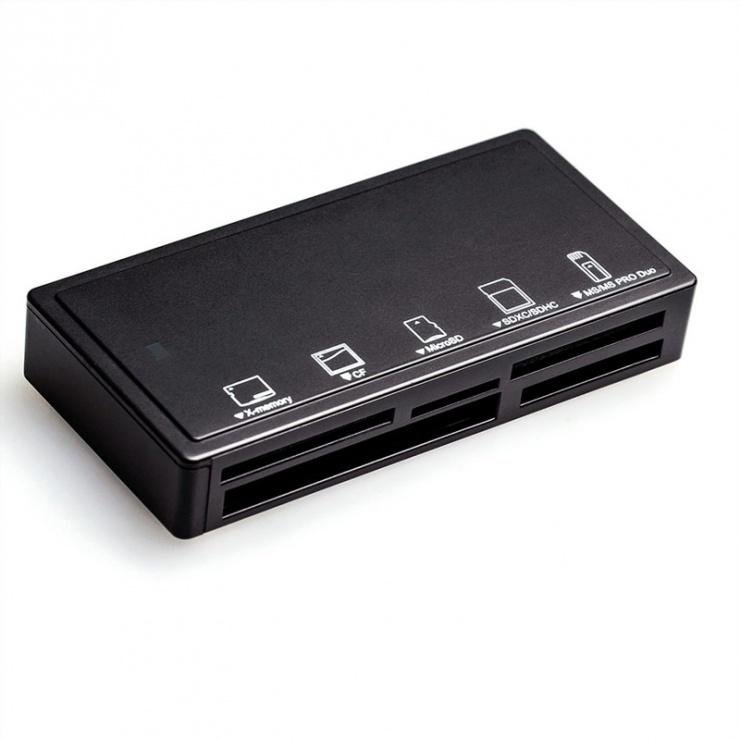 Imagine Cititor de carduri USB 3.0 Negru, Roline 15.08.6248