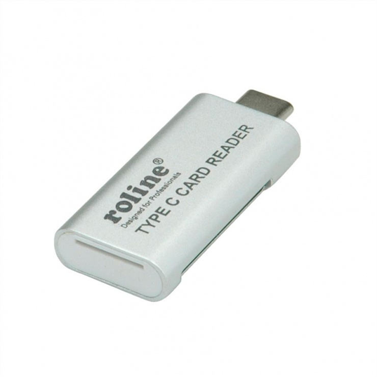 Imagine Cititor de carduri USB 3.0 tip C la SD/MicroSD, Roline 15.08.6259