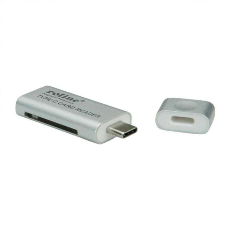 Imagine Cititor de carduri USB 3.0 tip C la SD/MicroSD, Roline 15.08.6259-2