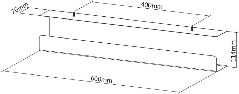 Imagine Organizator cabluri montare sub birou Negru , Value 17.99.1315-1