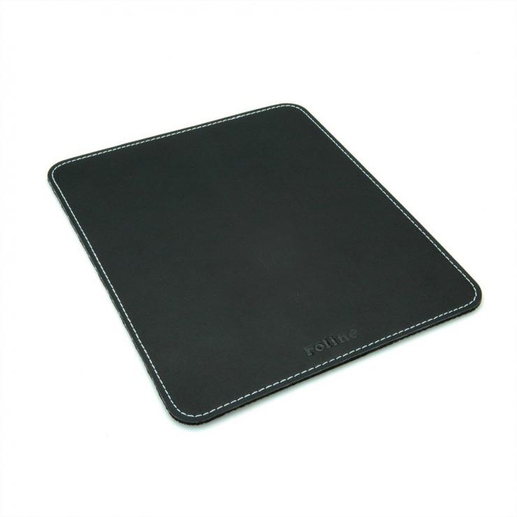 Imagine Mouse pad imitatie piele Negru, Roline 18.01.2046