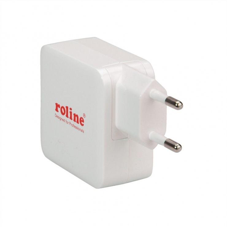 Imagine Incarcator priza 1 x USB Quick/Fast Charge 3.0 (incarcare rapida), Roline 19.11.1024