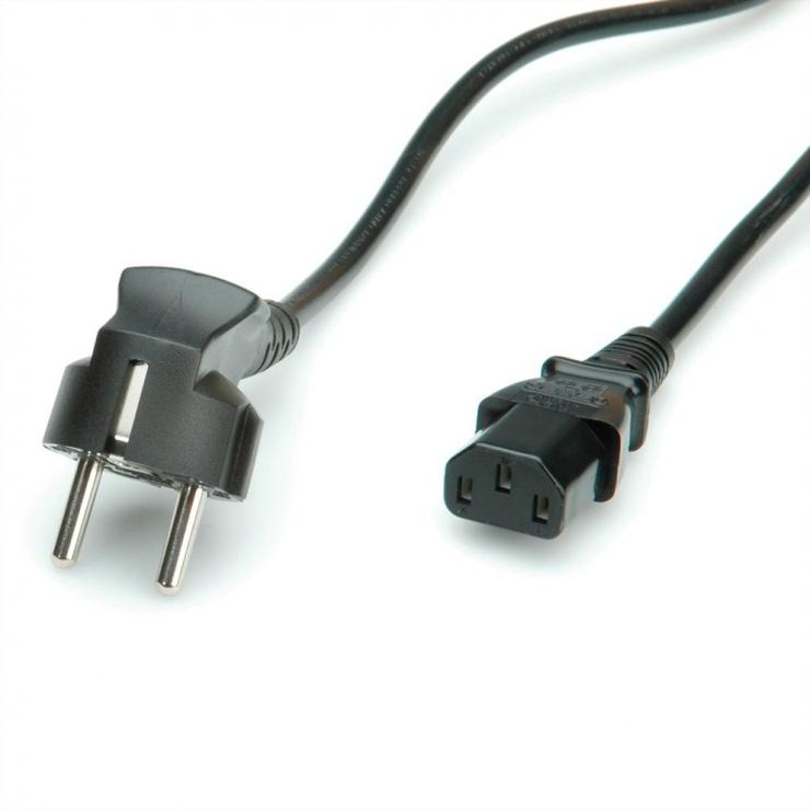 Imagine Cablu de alimentare PC 0.6m Negru, Value 19.99.1017-1