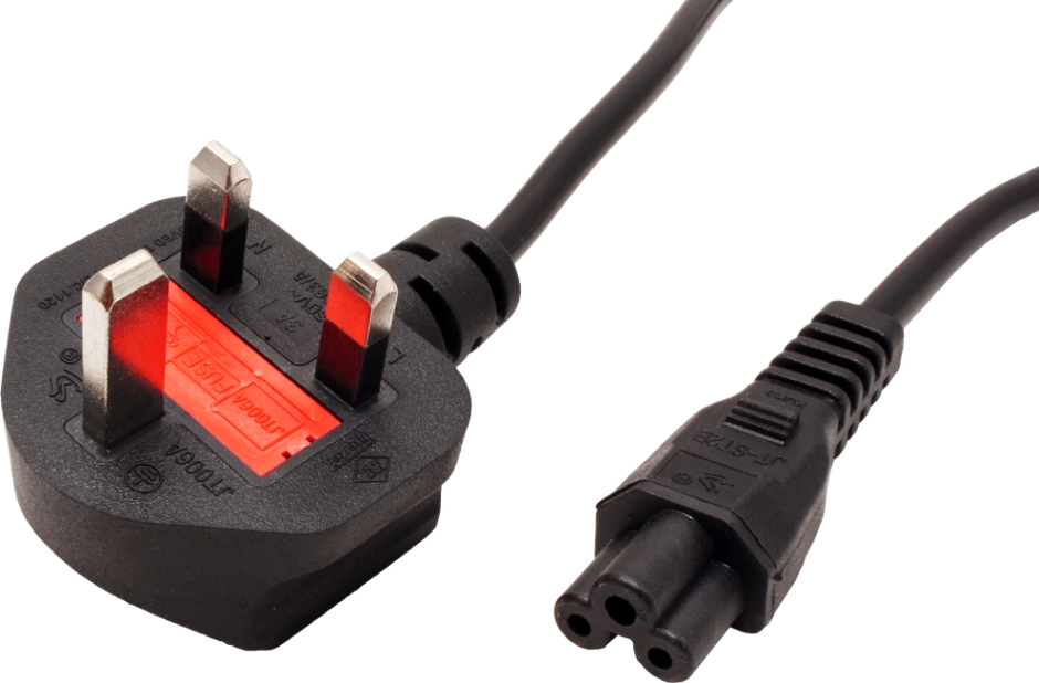 Imagine Cablu de alimentare UK la C5 Mickey Mouse 2.5A 1.8m Negru, Value 19.99.2016-1