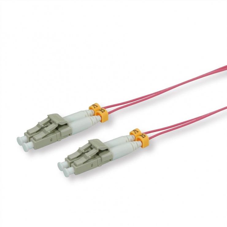 Imagine Cablu slim Fibra optica LC- LC OM4 violet 10m, Roline 21.15.9265