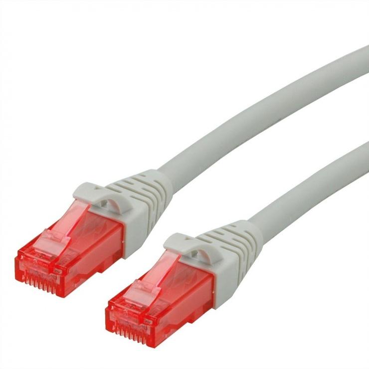 Imagine Cablu de retea RJ45 UTP Cat. 6 Component Level LSOH Gri 1.5m, Roline 21.15.2504