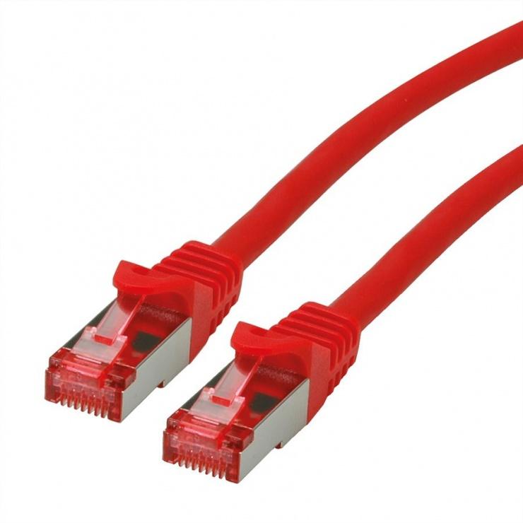 Imagine Cablu de retea SFTP cat 6 Component Level LSOH rosu 0.3m, Roline 21.15.2952