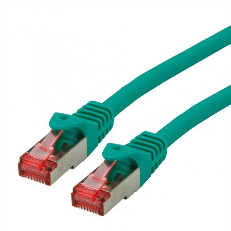 Imagine Cablu de retea SFTP cat 6 Component Level LSOH verde 0.3m, Roline 21.15.2954