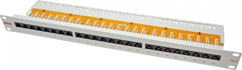 Imagine Patch Panel UTP Cat.6, 24 porturi, gri, Roline 26.11.0355