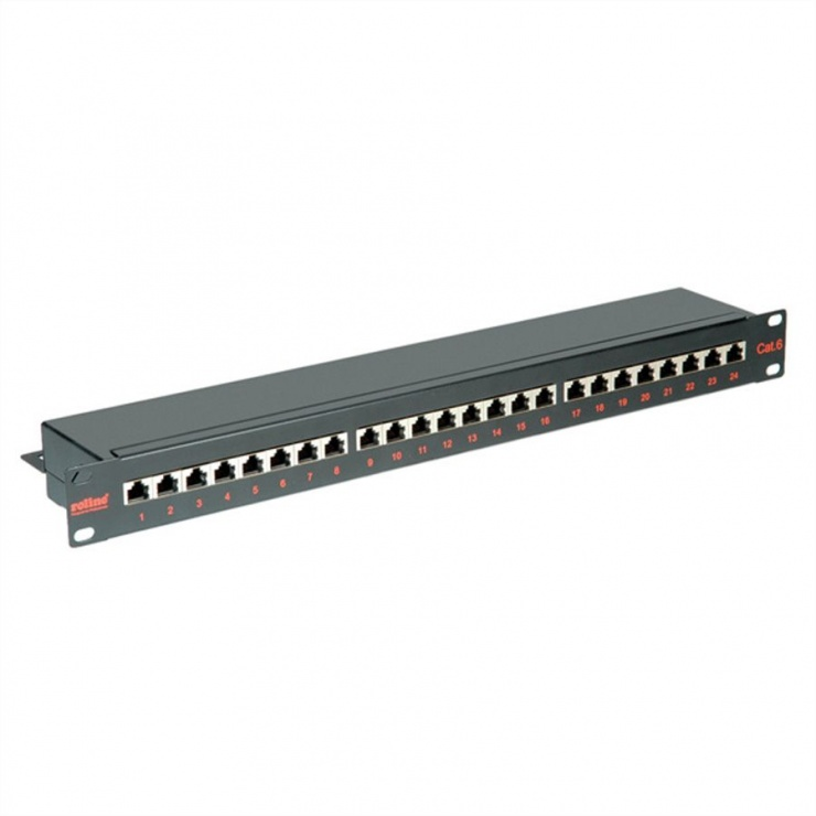 Imagine Patch Panel FTP Cat.6, 24 porturi, negru, Roline 26.11.0361-1