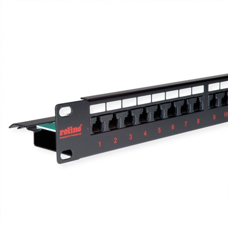 Imagine Patch Panel UTP Cat.6, 24 porturi, negru, Roline 26.11.0362
