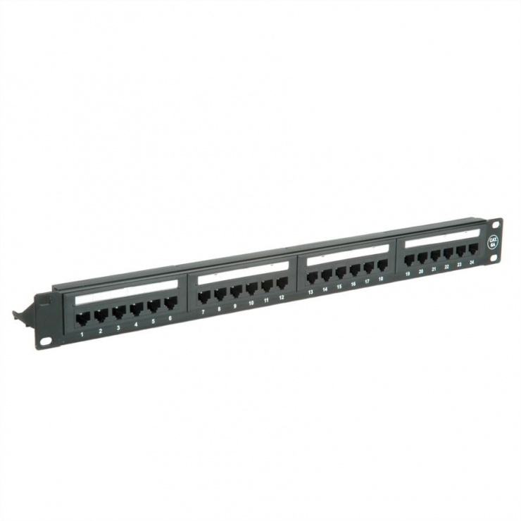 "Imagine Patch panel 19"" cat 6A 24 porturi UTP Negru, Value 26.99.0357"