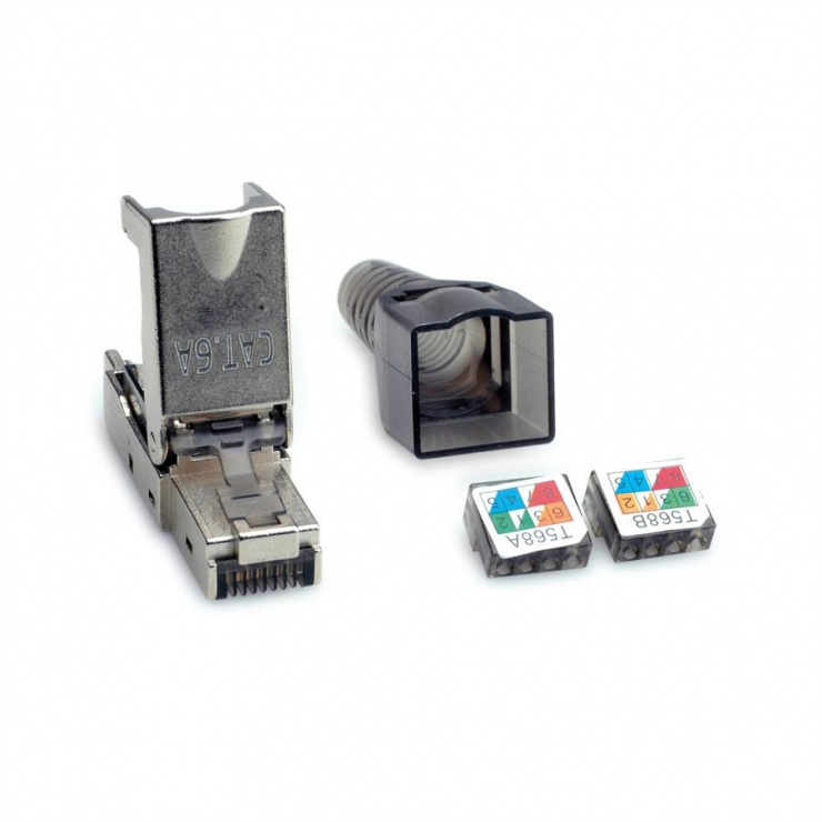 Imagine Conector de retea RJ45 cat 6A STP pentru fir solid AWG 23-26, Value 26.99.0373