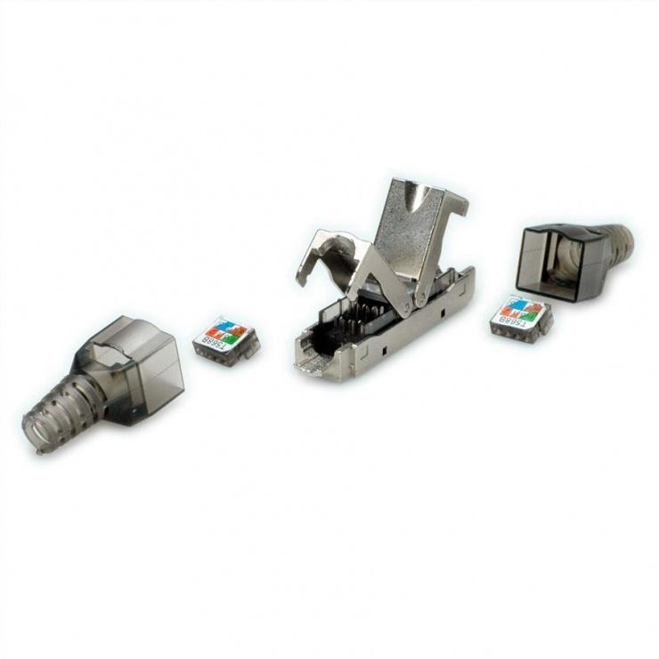 Imagine Conector de retea RJ45 cat 6A STP, Value 26.99.0380