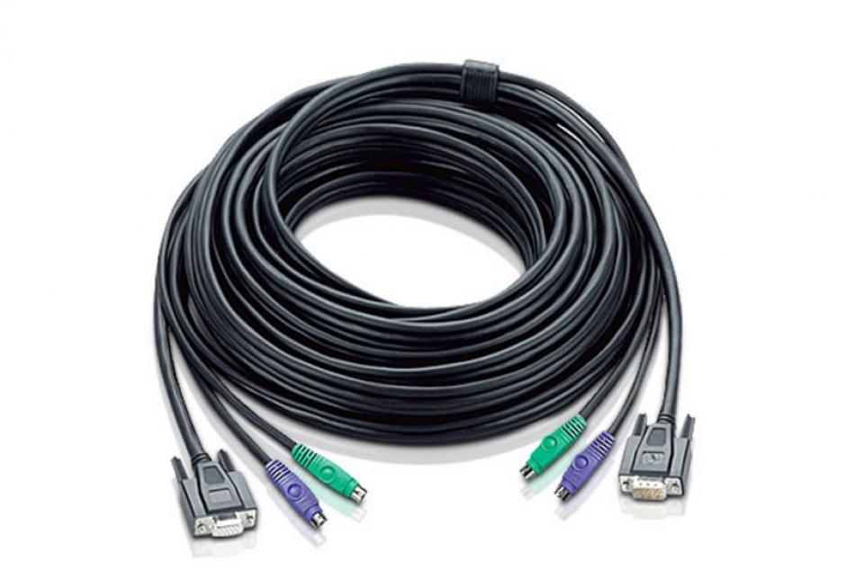 Imagine Cablu VGA pentru KVM PS/2 10m, ATEN 2L-1010P/C