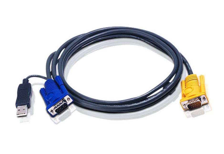 Imagine Set cabluri pentru KVM USB-PS/2 2 m, ATEN 2L-5202UP