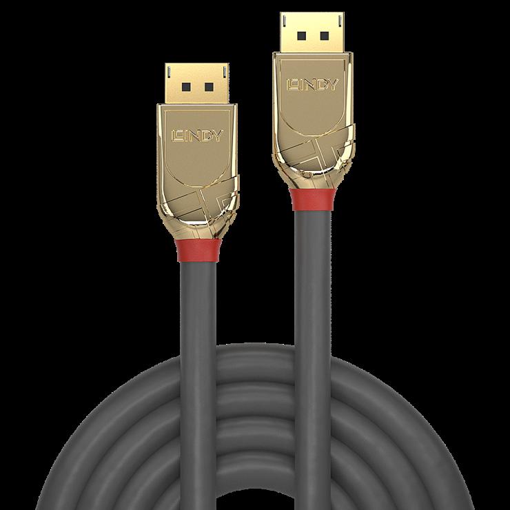 Imagine Cablu Displayport 4K UHD (DP certificat) v1.2 T-T 15m Gold Line, Lindy L36297-2