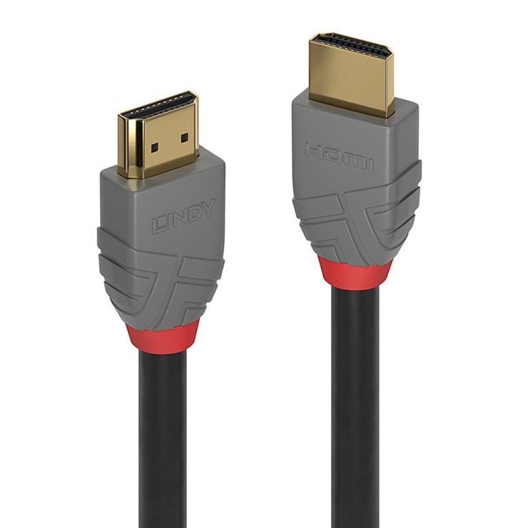 Imagine Cablu HDMI Ultra HD 4K Anthra Line T-T 5m, Lindy L36965