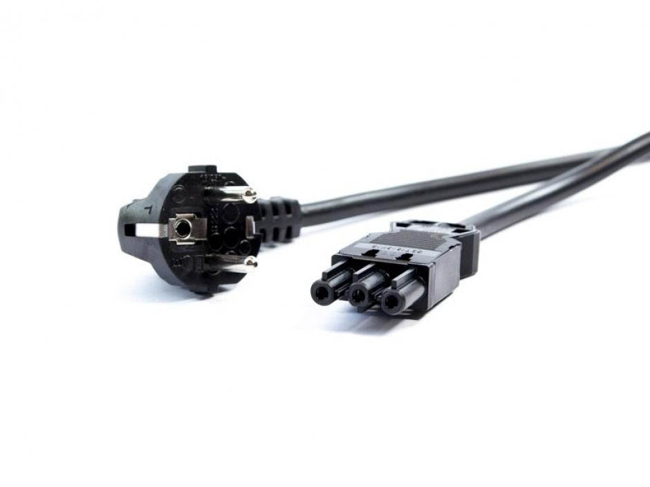 Imagine Cablu de alimentare Schuko la GST18-3 2m negru, Bachmann 375.075-1