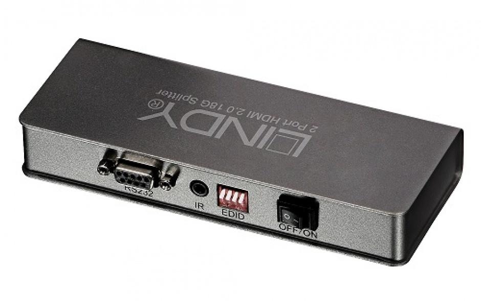 Imagine Multiplicator HDMI 2 porturi UHD/HDR 600 Mhz, Lindy L38240-1
