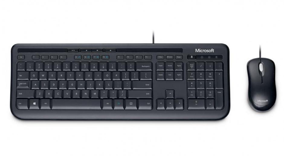 Imagine Kit tastatura + mouse Microsoft Wired Desktop 600 for business Negru
