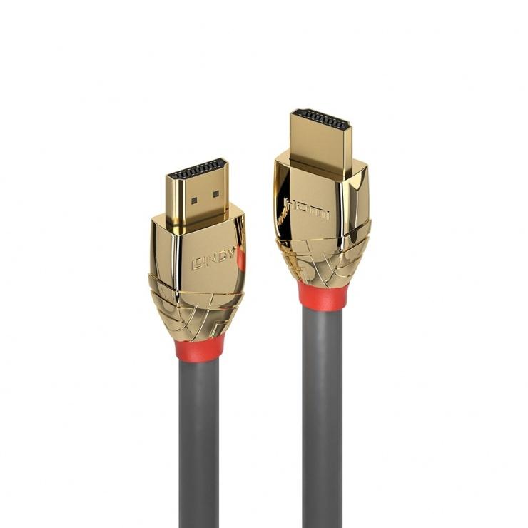 Imagine Cablu HDMI UHD 4K Gold Line 1m T-T, Lindy L37861