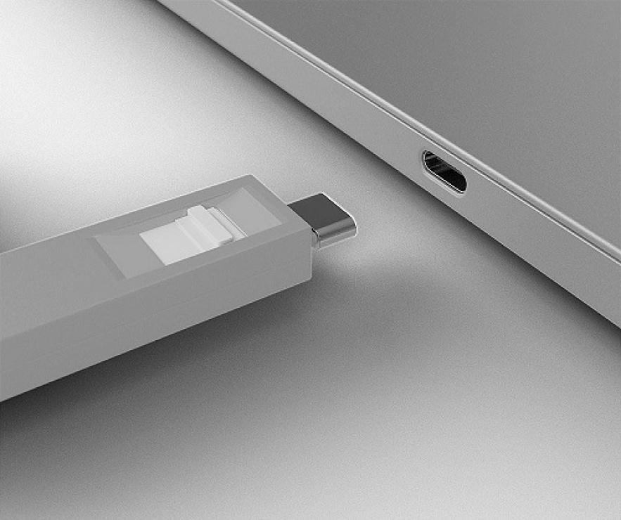 Imagine Set 4 bucati Port Blocker USB tip C/Thunderbolt 3 + cheie Alb, Lindy L40427-2