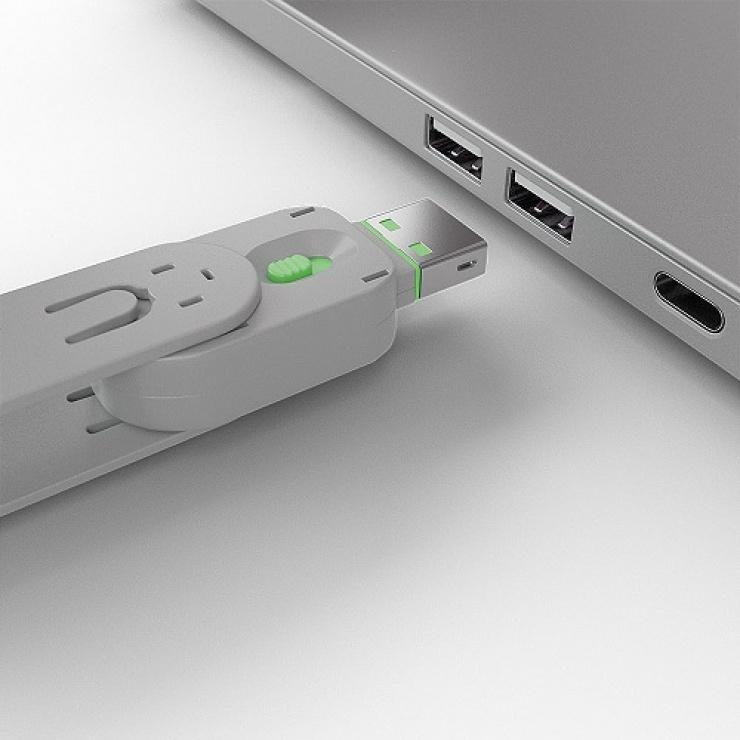 Imagine Cheie pentru blocarea portului USB-A (L40461 & L40451) Verde, Lindy L40621-2