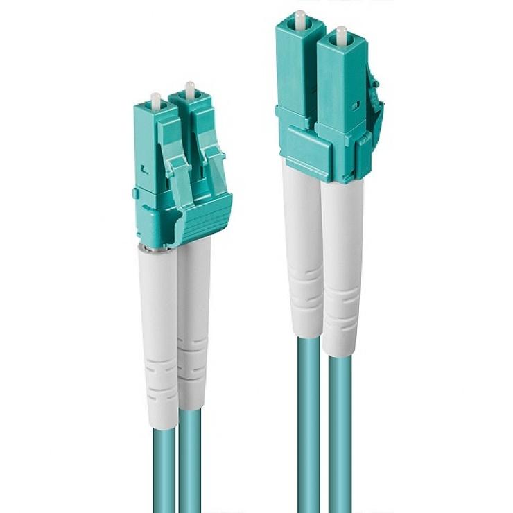 Imagine Cablu fibra optica LC-LC OM3 Duplex Multimode 150m, Lindy L46405