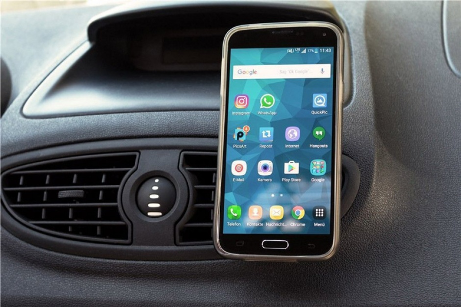 Imagine Suport magnetic auto pentru smartphone (45mm), Goobay 47145-6