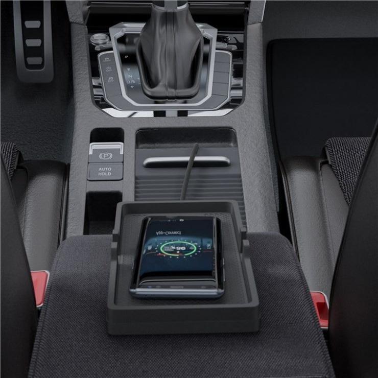 Imagine Incarcator wireless Fast Charging 10W pentru auto/birou, Goobay 55479-4