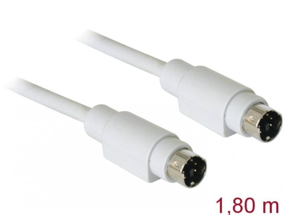 Imagine Cablu PS/2 1.8m T-T, Delock 84066