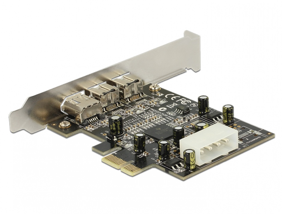 Imagine PCI Express Firewire 2 porturi B + 1 port A, Delock 89153-1