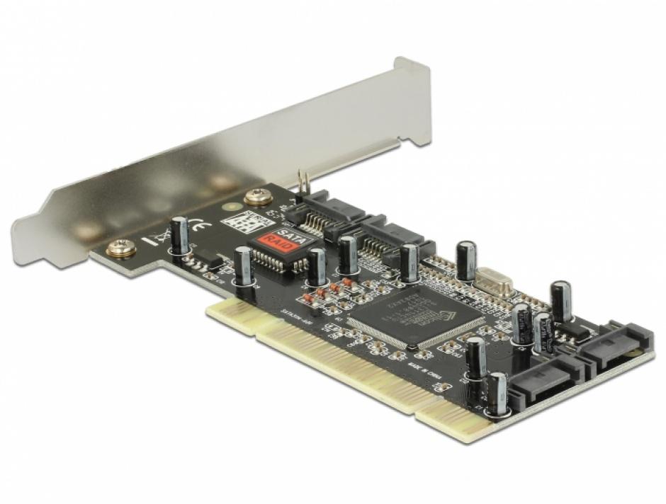 Imagine PCI la 4 x SATA cu RAID, Delock 70154-1